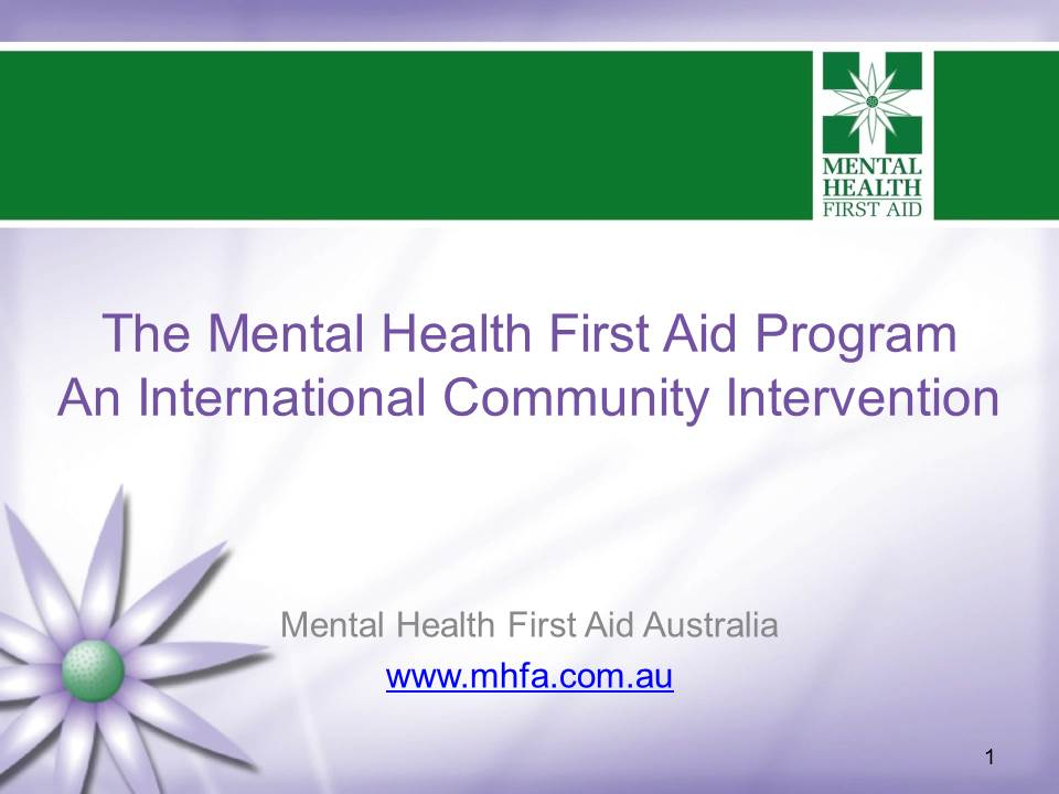 Session Resources S044 The Mental Health First Aid Program Now A